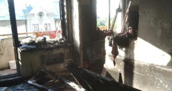 Після пожежі у квартирі по вулиці Поліської Січі