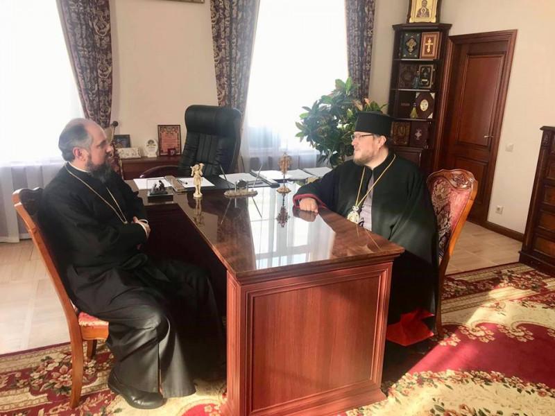 Владика Матфей зустрівся з митрополитом Київським і всієї України Епіфанієм