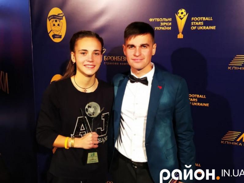Надія Іванченко разом із своїм тренером Олегом Бортніком