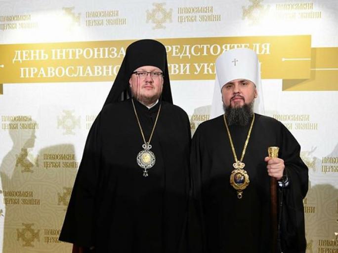 Преосвященний Матфей з митрополитом Київським і всієї України Епіфанієм
