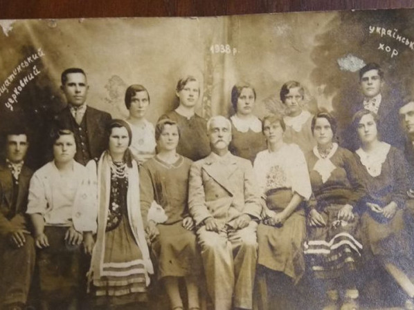 Фото 1938 року підписане: Вощатинський церковний український хор