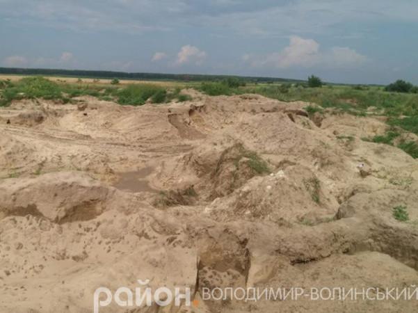 У Поничеві піскокради завдали екологічної шкоди на 7,5 мільйона гривень