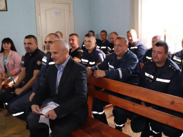 Володимирських рятувальників привітали з професійним святом