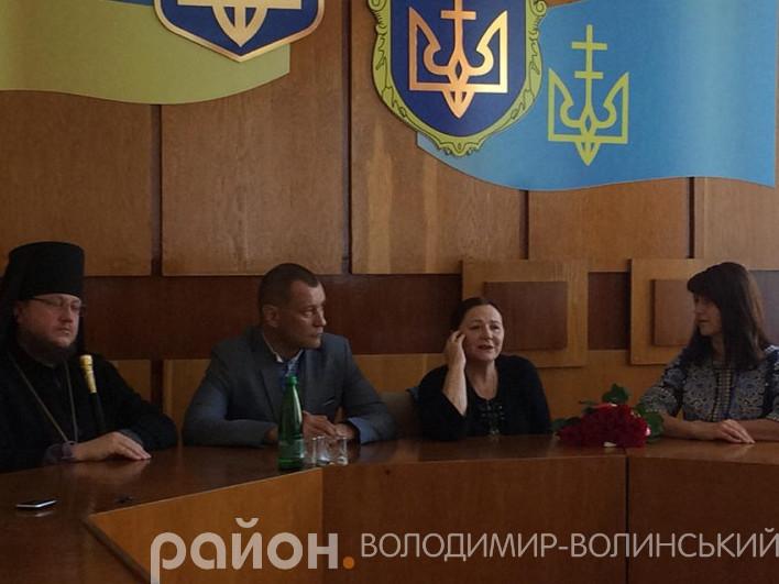 У Володимирі зустріли народну артистку України Ніну Матвієнко