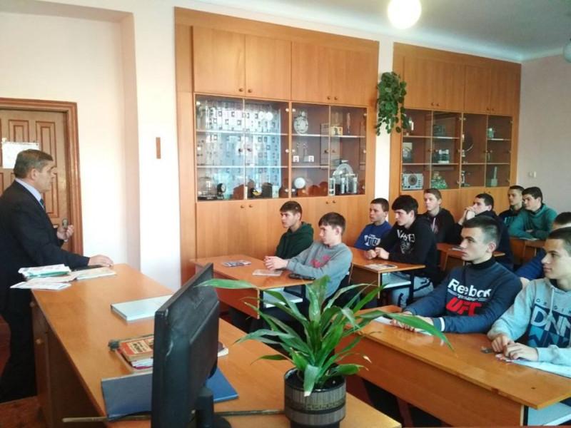 Учням волинського ВПУ розповіли про боротьбу з насильством