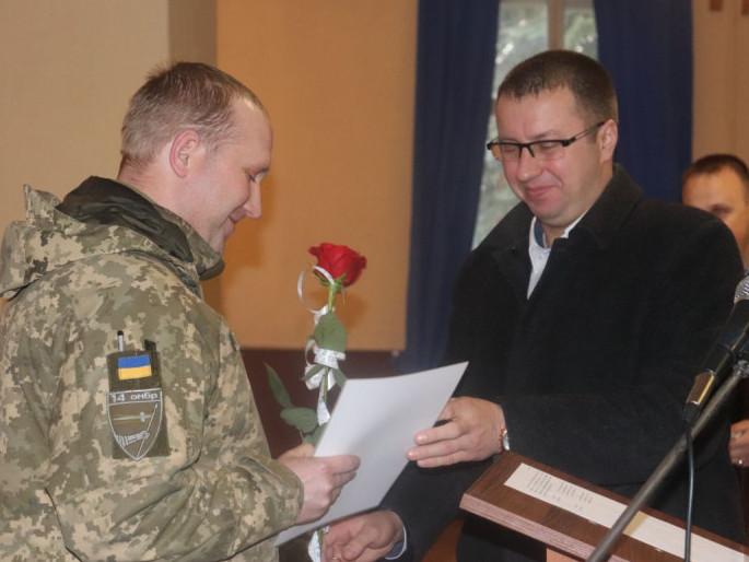 Військовослужбовців Володимирщини привітали зі святом