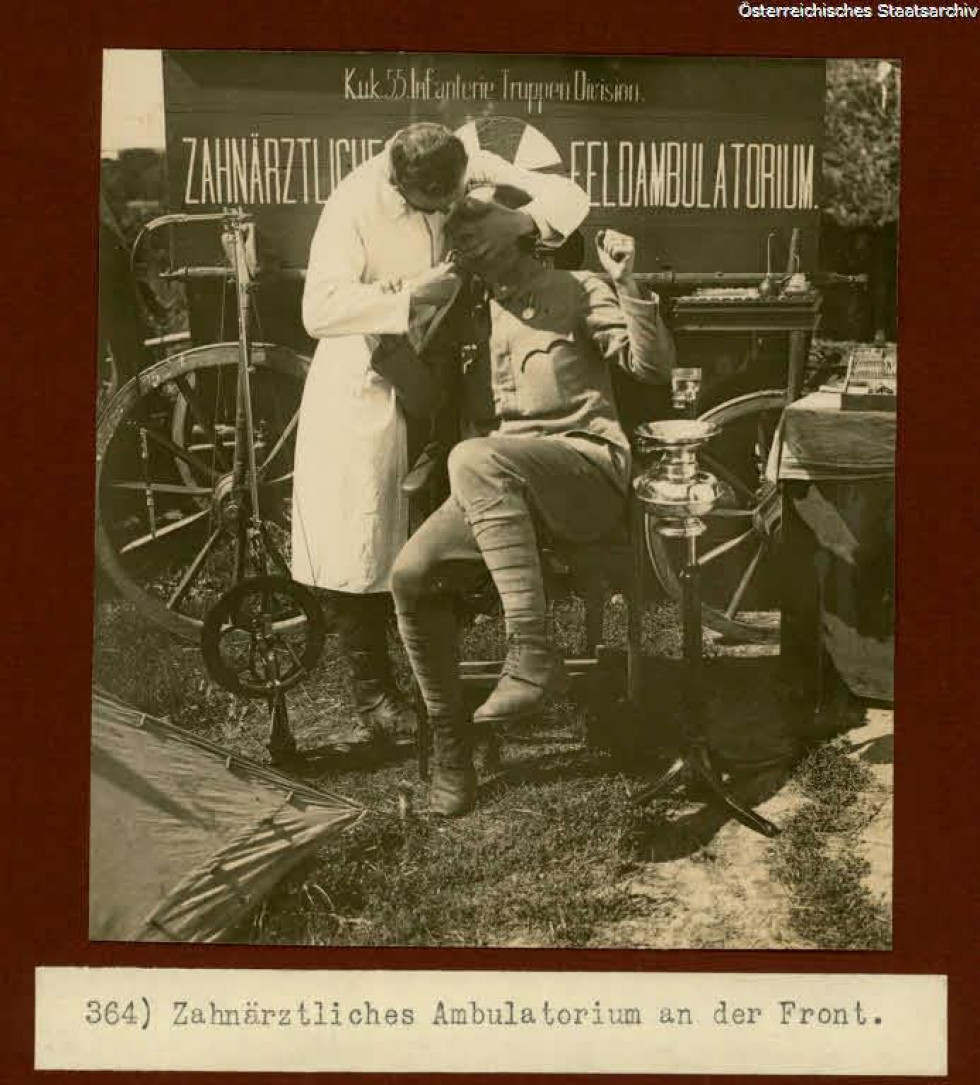 Лікування зубів в польових умовах, Галичина, 1916 р.