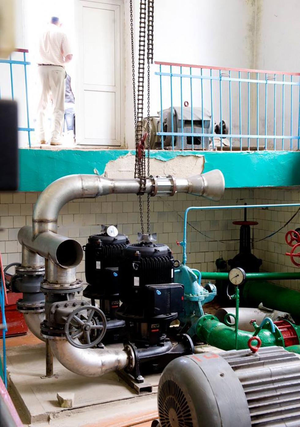 Було замінено насоси на насосній станції, встановлено резервуар для чистої води.