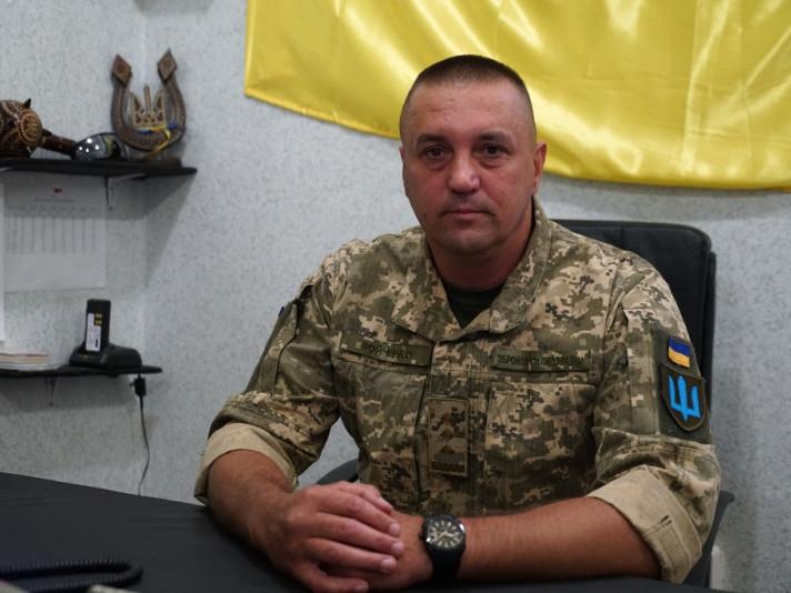 Командир 14-ї окремої механізованої бригади Сергій Войченко